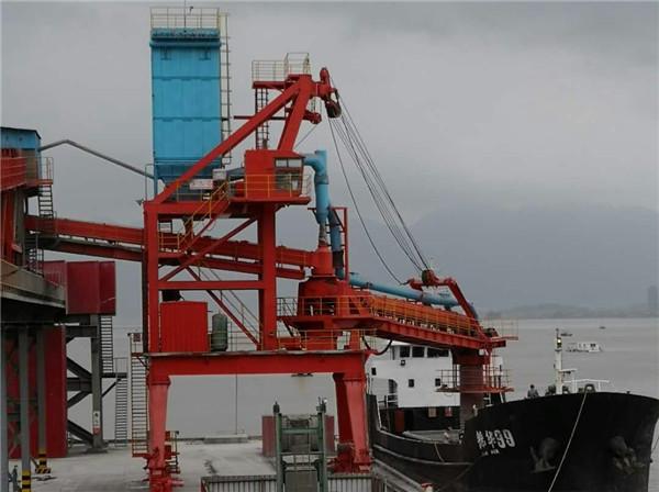 湖北1200T/h水泥卸船机除尘系统