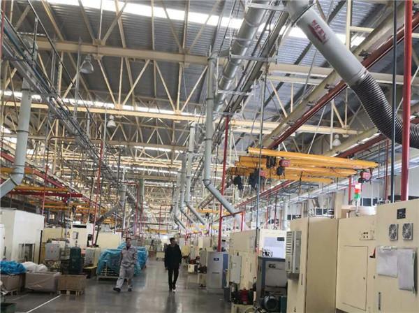 汽车生产线烟雾管网