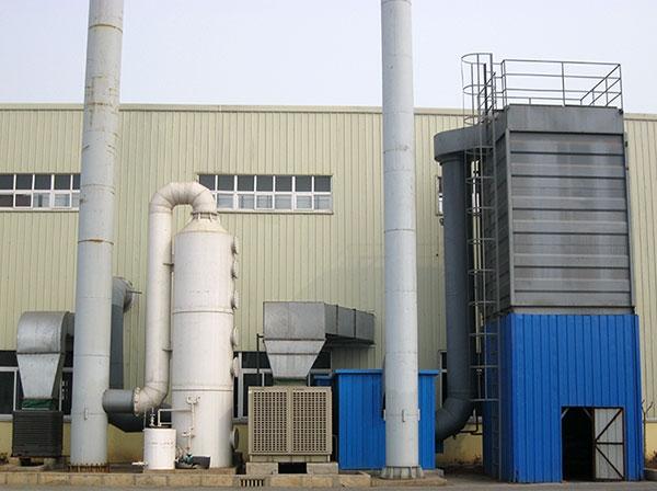 废气净化塔和袋式除尘器