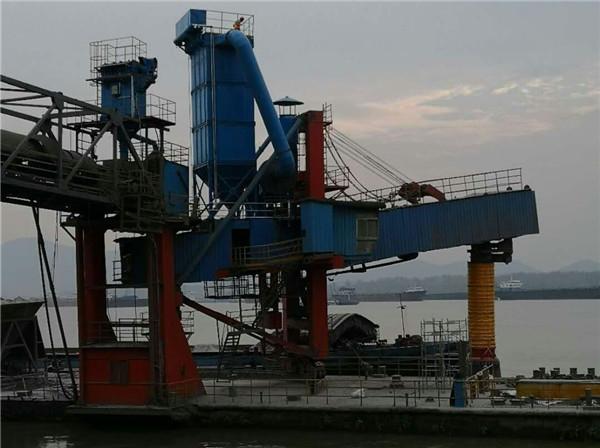 河南800T/h水泥卸船机除尘系统